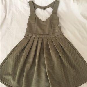 Heart-Shaped Green Short Dress